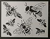 TNS STORE Honey Bee Bumble Bees 11'' x 8.5'' Custom Stencil
