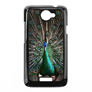 Colorful Peacock Feather HTC One X Cell Phone Case Black G6833386
