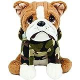 Pelúcia Bulldog Militar, Buba Toys, Multicor, Médio