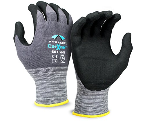 Pyramex CorXcel General Purpose MicroFoam Nitrile Gloves, Large