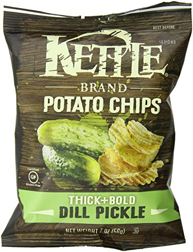 Kettle Brand Thick and Bold Potato Chips, Dill Pickle, 2-Ounce Bags (Pack of 6) (Kettle Chips 2 Ounce compare prices)