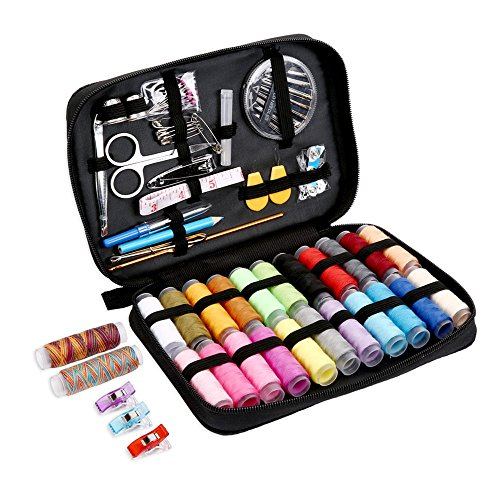 Best Price! Sewing KIT,JKtown Portable Basic Sewing Accessories,Spools of Thread, Mini sew Kits Supp...