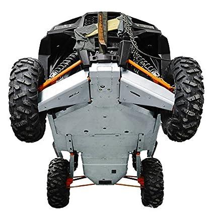 Amazon.com: Polaris RZR XP-4 1000 & RZR XP-4 Turbo Aluminum 12 Piece Skid Plate Set by Ricochet For 2016, 2017 Models: Automotive