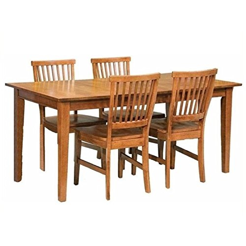 Bowery Hill 5 Piece Dining Set in Cottage Oak