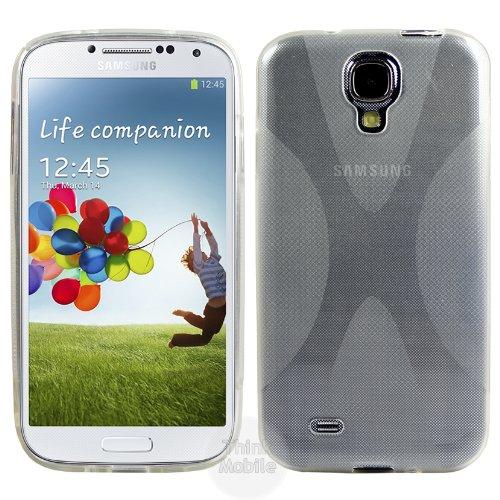 Samsung Galaxy S4 i9500 Caso Elegante - Transparente S-Line TPU Gel Funda Case Para Samsung Galaxy S4 i9500 - thinkmobile X-Line Clear