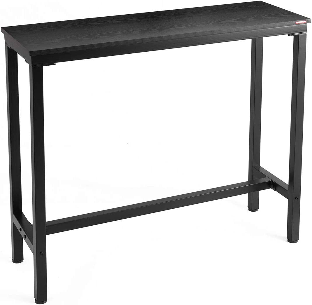 Mr IRONSTONE Bar Table 47 Pub Dining Height Table Bistro Table with Black Textured Top Indoor USE ONLY