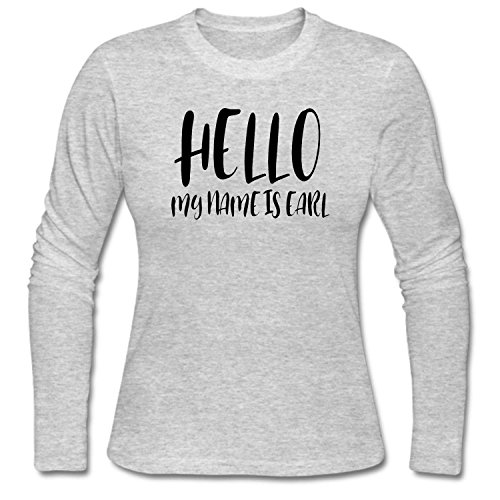 CCBING Women's Hello My Name Is Earl Funny T-Shirt