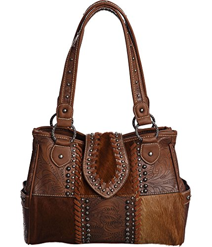 trinity-ranch-cowhide-patchwork-brown-studded-shoulder-bag