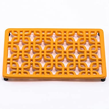 Old Dutch Rectangular Deco Trivet, Butterscotch