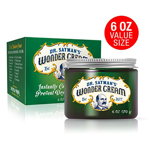 Dr. Saymans Wonder Cream for Eczema, Psoriasis, Dermatitis and Rashes  Relieves Dry, Itchy, Irritated Skin, 6 oz.