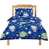 Dreamaker Girls Boys Single Size Kids Child Comforter Bedding Set w/ Pillowcase 210x140cm (Astronaut)