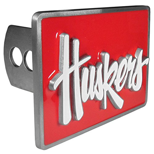 Siskiyou NCAA Nebraska Cornhuskers Trailer Hitch Cover, Class II & III