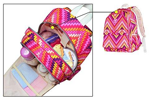 Bolso colorido de la momia de la manera, bolso de hombro, morral, bolso de la madre de la capacidad grande, bolso de múltiples funciones del bebé de la madre, salen el bolso ( Color : Azul ) Azul