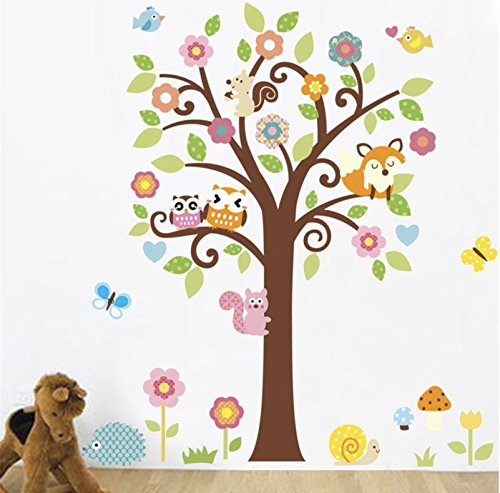 - Avenue4u Nursery Room Wall Decal, Forest Animal Stickers, Peel and Stick Removable Wall Decal Sticker