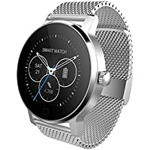 SMA 09-3 Fitness Tracker Smart Watch for Activity Tracker Smart Watch for Men Heart Rate Monitor Smartwatch for iPhone 5 5s 6 6s 6plus 7 7s 7plus 8 X and Android Phones Silver