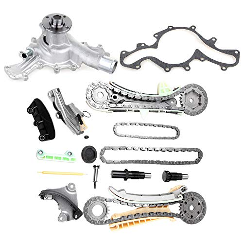 - OCPTY TS20395F Timing Chain Kit w/Gears + Water Pump fits for 4.0L Ford Mazda Mercury SOHC V6 Engine