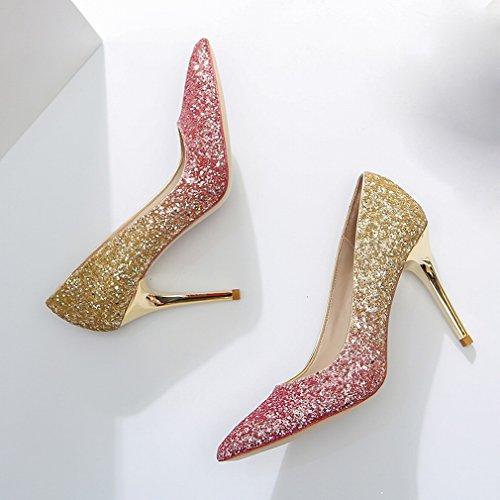L Schuhen mit Stöckelschuhe Spitzen EIN Feinen Y rc46qWwBCr