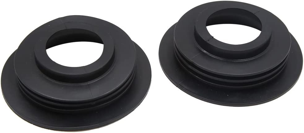 uxcell 2 Pcs Rubber Flat LED HID Headlight Fog Light Housing Seal Cap Dust Cover for Car