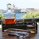 Pasabahce Large Heavy Glass Cigar Ashtray for