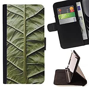 Jordan Colourful Shop - green leaf nature biology vignette For Apple Iphone 6 PLUS 5.5 - < Leather Case Absorci????n cubierta de la caja de alto impacto > -