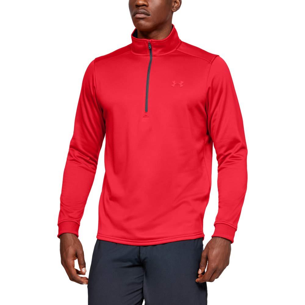 Under Armour Men's Armour Fleece 1/2 Zip, Red (601)/Red, Medium by Under Armour