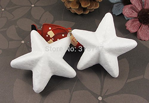 60pcs 7cm Natural White Styrofoam Stars