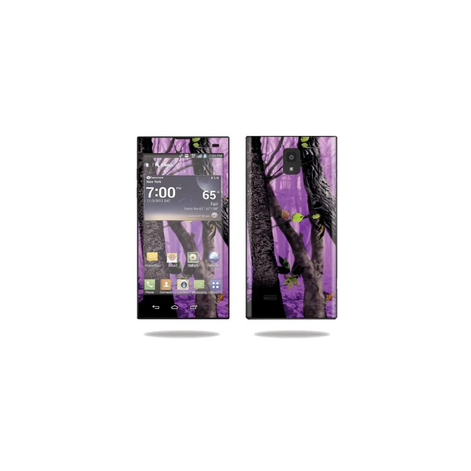 MightySkins Protective Vinyl Skin Decal Cover for LG Spectrum 2 Cell Phone Sticker Skins Purple Tree Camo Computers & Accessories