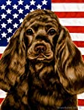 Best of Breed Cocker Spaniel (Chocolate): Indoor/Outdoor House Flag (Patriotic II Series) 1. Review