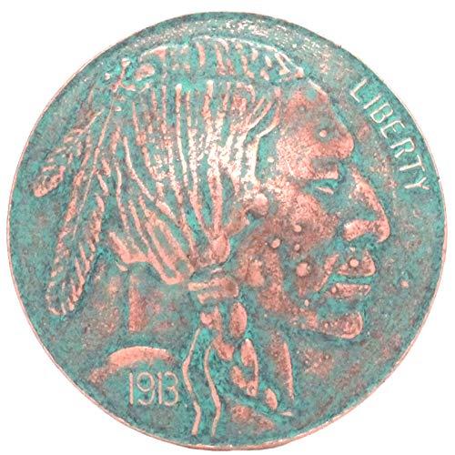 Indian Head Nickel Trophy Belt Buckle Patina - Buckle Buffalo Nickel
