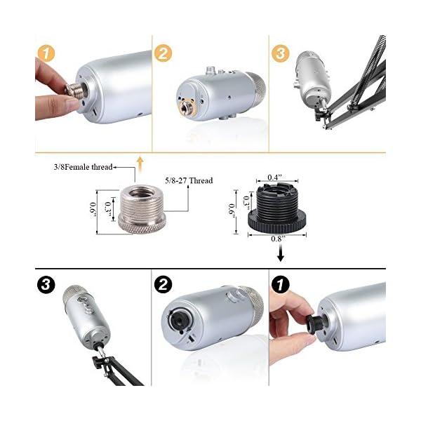 HAUEA supporto microfono regolabile professionale braccio per microfono con Ragno e adattatore per studio registrazione… 2 spesavip