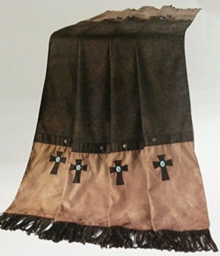 H&H Western Navaho Cross Fringed Throw Blanket - Ranch Lodge Bedding Southwest ()