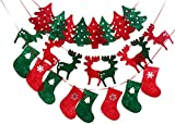 Christmas Banner Holiday Bunting Hanging Decor Party Home Outdoor Set of 3