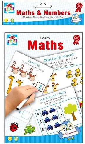 Home Fusion The Company - Libros de Aprendizaje Divertidos y limpios, para Escribir y Escribir matemáticas, números de Mesa, para niños: Amazon.es: Hogar