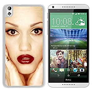 Beautiful Designed Cover Case With Gwen Stefani Face Lipstick Look Eyes (2) For HTC Desire 816 Phone Case