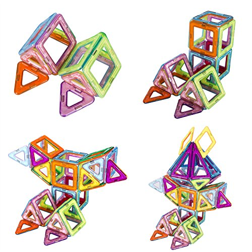 133 Pieces Magnetic Blocks,Magnetic Building Blocks Toys Set,Kuloe Kids Magnetic Toys Educational Building Tiles Blocks