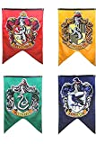 "Yi Amoy Harry Potter Hogwarts House Wall Banners, Ultra Premium Double Layered Indoor Outdoor Party Flag - Gryffindor, Slytherin, Hufflepuff, Ravenclaw 4pc Set Collection 75""X 125"""