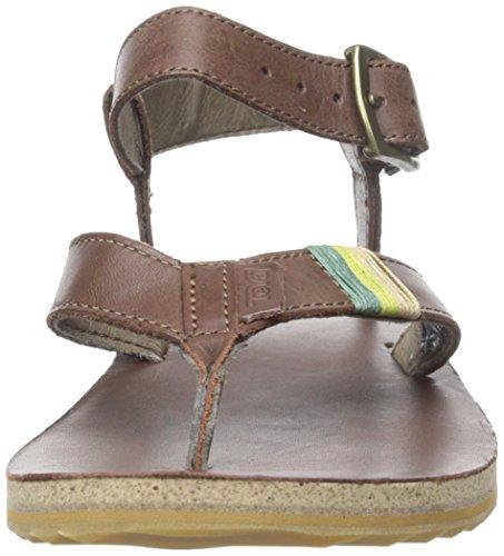 Teva Original Sandal Crafted Leather Women Braun