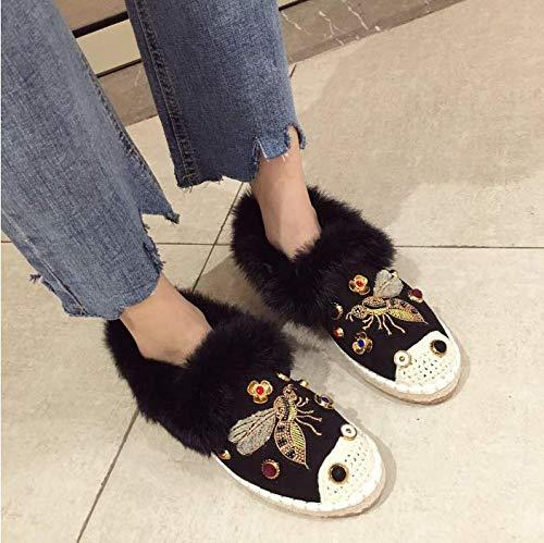 HBDLH Damenschuhe Einzelne Schuhe Flache Flache Flache Sohlen Faul Schuhe Diamanten Damenschuhe baa8c6