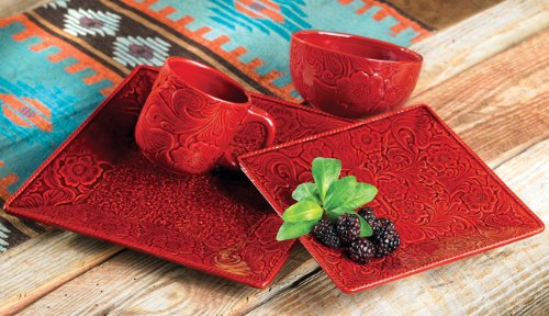 Savannah Red Dinnerware Set - 16 pcs
