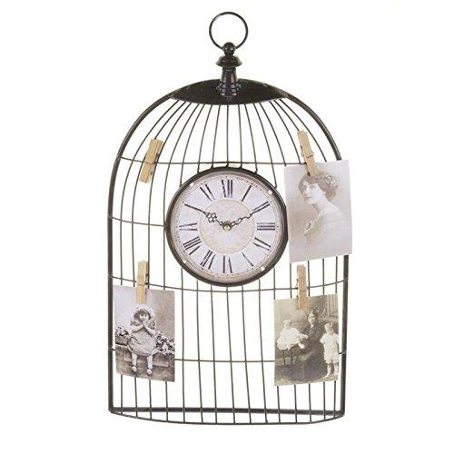 Reloj de pared de pinzas Birdcage Memento/de jaula de pájaros ...