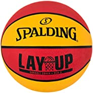 Spalding Lay-Up Mini Outdoor Red/Orange Basketball 22&