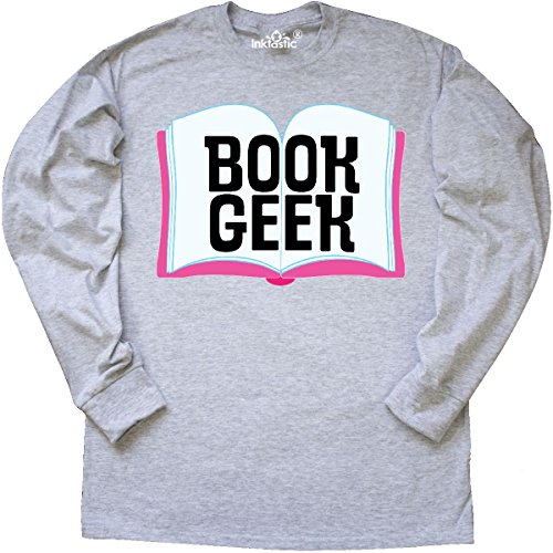 inktastic Book Geek Librarian Long Sleeve T-Shirt X-Large Ash Grey 2e0bb Librarian Ash Grey T-shirt