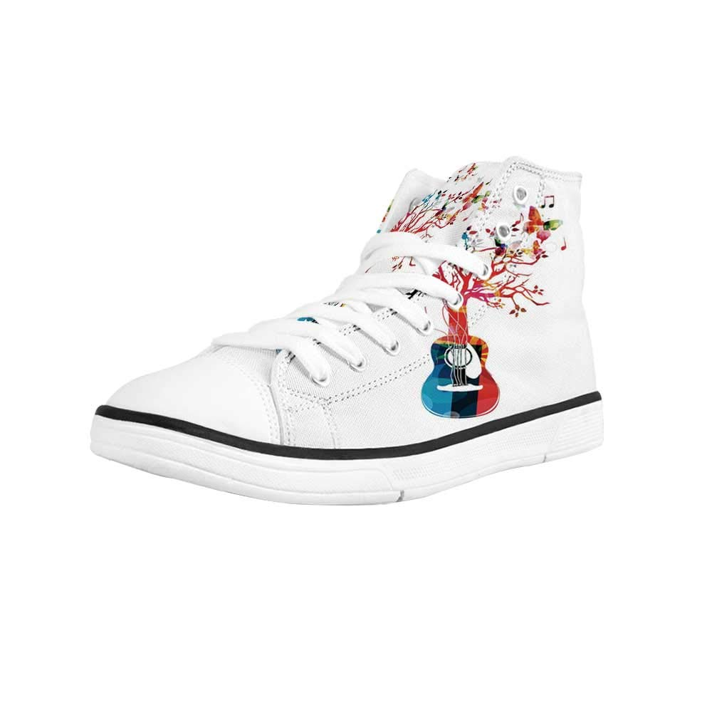 Grunge Comfortable High Top Canvas Shoes,Retro Motorcycle with Murky Effects Vintage Sports Illustration Image for Women Girls,US 5