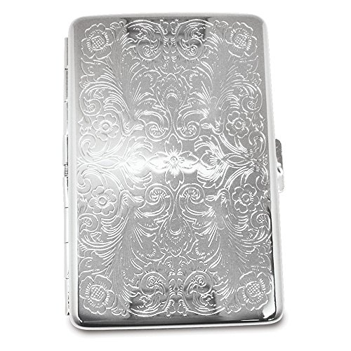 (Gifts & More Silver-tone Cigarette and Cards Case (Holds 16))