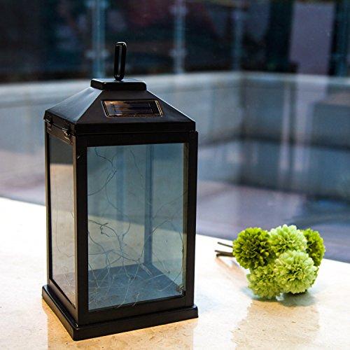 solar lantern lights metal sunwind with 30 warm white leds fairy string lights outdoor. Black Bedroom Furniture Sets. Home Design Ideas