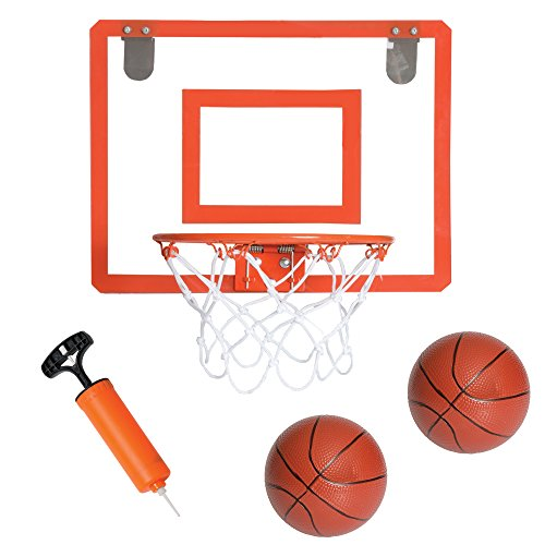Play Platoon Mini Basketball Hoop for Door - 16 x 12 Inch Bedroom Basketball Hoop Indoors Set