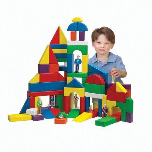 Piece Wooden Unit Blocks - Constructive Playthings 100 Multi-Colored Unit Blocks, Grade: Kindergarten to 4, 19.1
