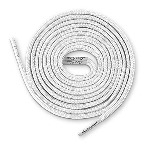 Lace Kings Flat Shoelaces (White - 49in)