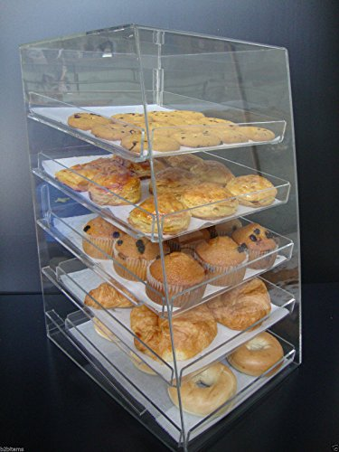 Displays2buy Acrylic Pastry Bakery Donut Bagels Cookie Display Case w/5 trays by Displays2buy (Image #9)