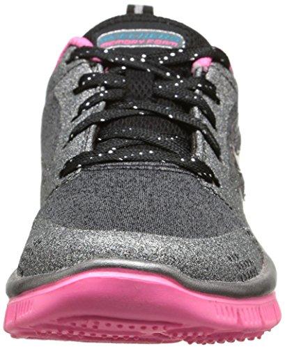 Skechers Skech Appeal-Glimmerama - Zapatillas, Niñas Multicolor (Negro/Gris/Rosa)
